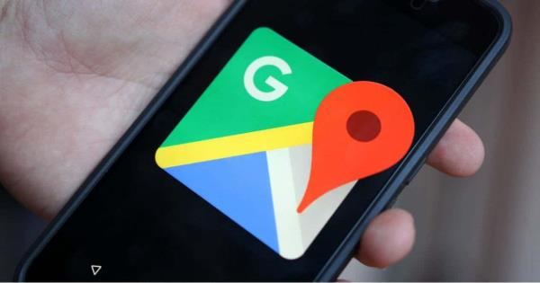 The young man uses Google Maps to see his dead grandfather on